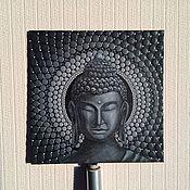 Картины и панно ручной работы. Ярмарка Мастеров - ручная работа Портрет Будды с объемным орнаментом. Handmade.