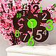 """Часы для дома ручной работы. Ярмарка Мастеров - ручная работа. Купить Настенные часы """"Дивиум"""". Handmade. Комбинированный"""