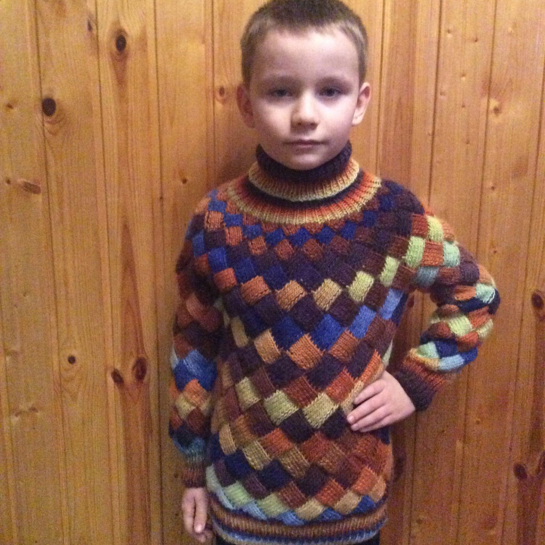 Детский свитер энтрелак «Коралловый риф», Одежда унисекс, Москва, Фото №1