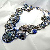 Украшения handmade. Livemaster - original item Necklace: MAGIC OF LOVE necklace with natural labrador.. Handmade.