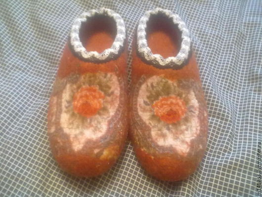 Обувь ручной работы. Ярмарка Мастеров - ручная работа. Купить тапочки домашние. Handmade. Тапочки ручной работы, павловопосадский платок
