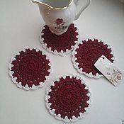 Для дома и интерьера handmade. Livemaster - original item Coasters for hot pots, mugs, cups. 10,5 cm. Handmade.