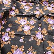 Ткани ручной работы. Ярмарка Мастеров - ручная работа 480 х 77 см. Ткань штапель, винтаж.. Handmade.