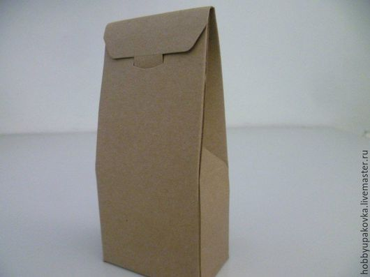 Упаковка ручной работы. Ярмарка Мастеров - ручная работа. Купить Коробка-пакет 7х15х4 см крафт. Handmade. Крафт
