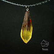 Украшения handmade. Livemaster - original item Fire pendant is made of wood and resin. Handmade.