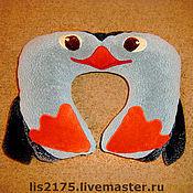 Для дома и интерьера ручной работы. Ярмарка Мастеров - ручная работа Подушка под шею ПИНГВИН. Handmade.
