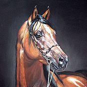 Картины и панно handmade. Livemaster - original item Portrait of Arabian stallion. Handmade.