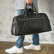 Сумки и аксессуары handmade. Livemaster - original item Men`s leather travel and sports bag