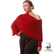 Одежда ручной работы. Ярмарка Мастеров - ручная работа Шарф-свитер-трансформер безразмерный для любой фигуры Королевский RED. Handmade.