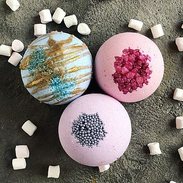 Косметика ручной работы. Ярмарка Мастеров - ручная работа Молочные бомбочки для ванны. Handmade.