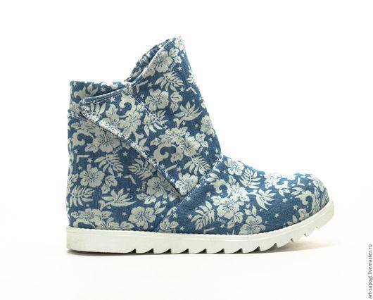 Обувь ручной работы. Ярмарка Мастеров - ручная работа. Купить Летние ботинки 8-320 (сб). Handmade. женская обувь