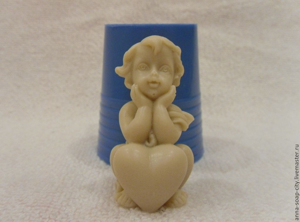 Silicone mold for soap 'the Child with heart', Makeup tools, Arkhangelsk,  Фото №1