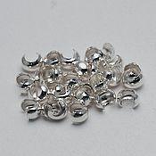 Материалы для творчества ручной работы. Ярмарка Мастеров - ручная работа Бусина зажимная 2,5 мм серебро. Handmade.
