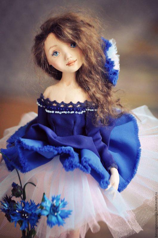 Авторская коллекционная статичная кукла ВАСИЛЕК (ДЕВЧОНКИ, КАК ЦВЕТЫ)