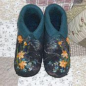 Обувь ручной работы. Ярмарка Мастеров - ручная работа Тапочки (Вечерние Нарциссы). Handmade.