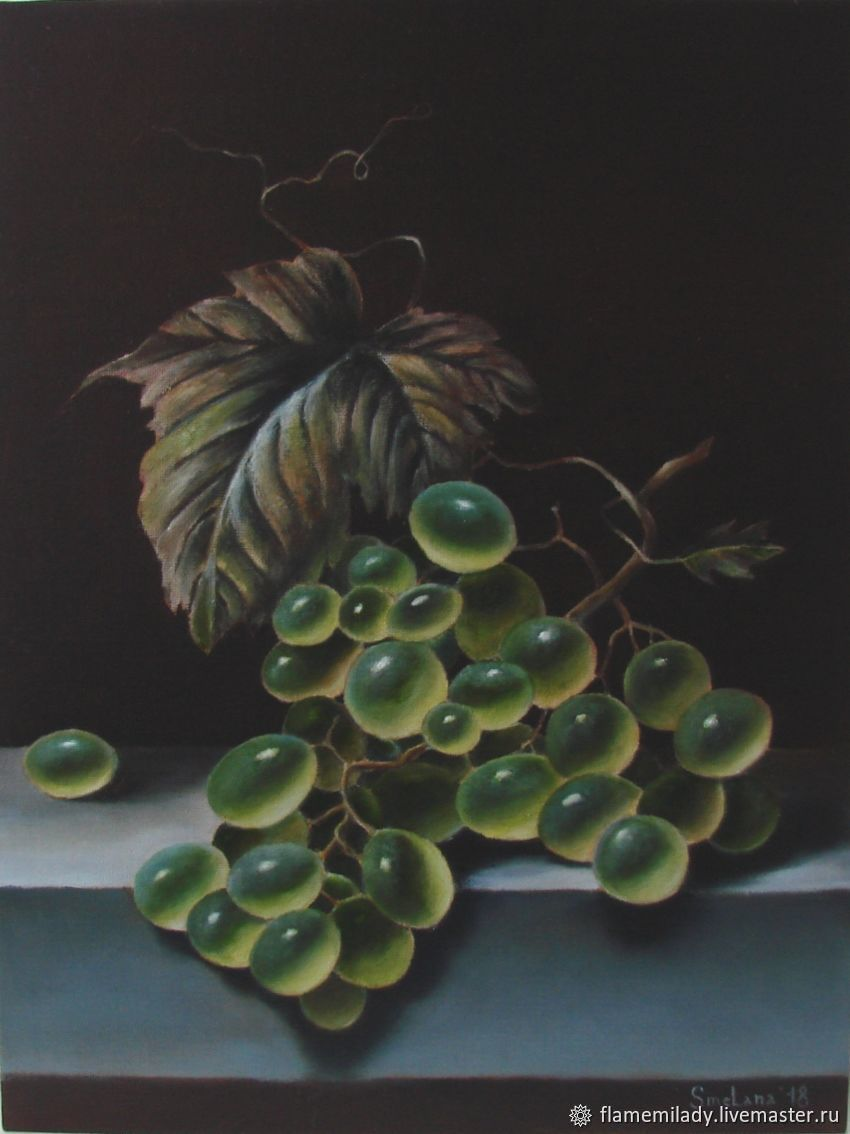 ' Bunch of grapes ' oil painting, Pictures, Ekaterinburg,  Фото №1