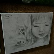 Картины и панно ручной работы. Ярмарка Мастеров - ручная работа Картины юной художницы. Handmade.