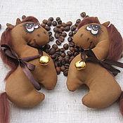Куклы и пупсы ручной работы. Ярмарка Мастеров - ручная работа Кофейные лошадки. Handmade.