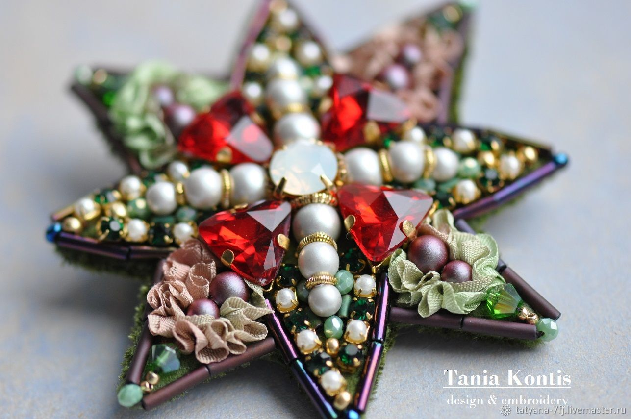 Brooch ' Star in Red', Brooches, Tver,  Фото №1