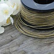 Материалы для творчества handmade. Livemaster - original item 1,0 mm brass wire. Handmade.