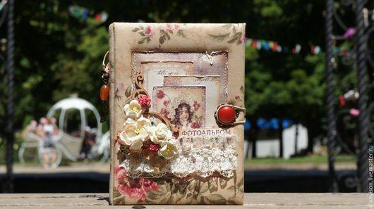 """Фотоальбомы ручной работы. Ярмарка Мастеров - ручная работа. Купить Винтажный альбом """"Винтажные розы"""". Handmade. Бежевый, мини-альбом"""