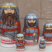 Русский стиль handmade. Livemaster - original item Matryoshka Russian Bogatyr. Handmade.
