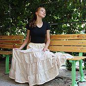 Одежда handmade. Livemaster - original item Beige petticoat (bottom skirt) cotton-sewing. Handmade.