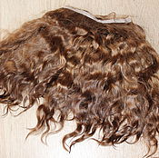 Материалы для творчества handmade. Livemaster - original item Mohair tress (intensively brown) (Hair for dolls). Handmade.