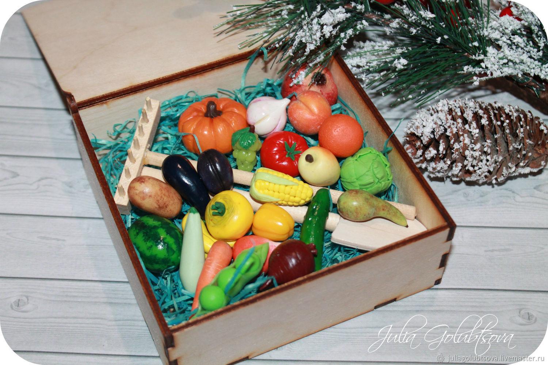 Миниатюра ручной работы. Ярмарка Мастеров - ручная работа. Купить Набор 35шт овощей и фруктов. Handmade. Фрукты, полимернаяглина