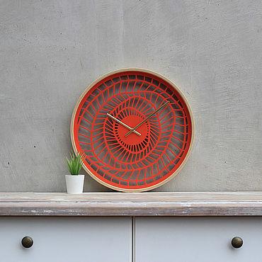 """Для дома и интерьера ручной работы. Ярмарка Мастеров - ручная работа Настенные деревянные часы """"Ethnic"""" 40см (Палитра 2). Handmade."""