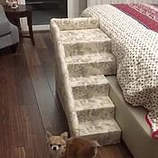 Для домашних животных, handmade. Livemaster - original item The dog ladder to a high bed to buy. Available in size.. Handmade.