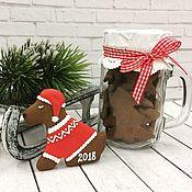 """Сувениры и подарки ручной работы. Ярмарка Мастеров - ручная работа Пряник """"Собачка в свитере"""" символ нового года. Handmade."""