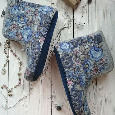 Footwear handmade. Livemaster - original item Homemade felt boots. Handmade.