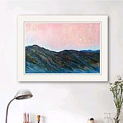 Картины и панно handmade. Livemaster - original item Painting a landscape in mixed media In the mountains. Handmade.