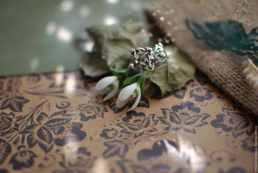 """Серьги ручной работы. Ярмарка Мастеров - ручная работа. Купить Серьги """"Капельки весны"""".. Handmade. Белый, цветочные серьги, первоцветы"""