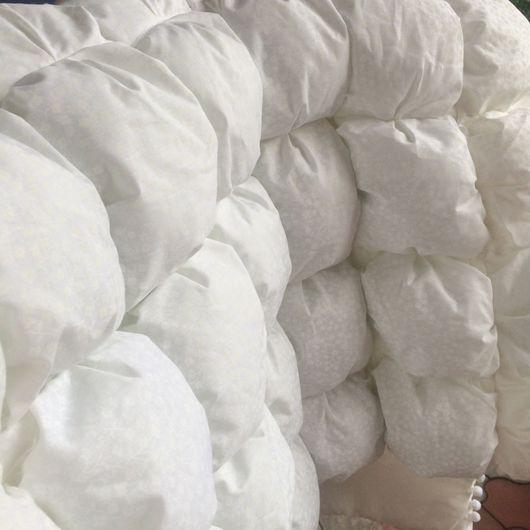 """Детская ручной работы. Ярмарка Мастеров - ручная работа. Купить Детское одеяло """"Белое"""". Handmade. Одеяло, бомбон, покрывало"""
