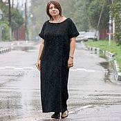 Одежда ручной работы. Ярмарка Мастеров - ручная работа Теплое длинное платье Оригами Black. Handmade.