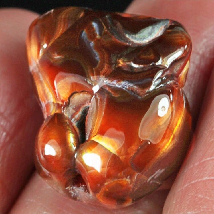 Fire agate 'Sugar'. Cabochon, Cabochons, Moscow,  Фото №1