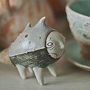 Статуэтка ручной работы. Ярмарка Мастеров - ручная работа свистулька безмолвная морская. Handmade.