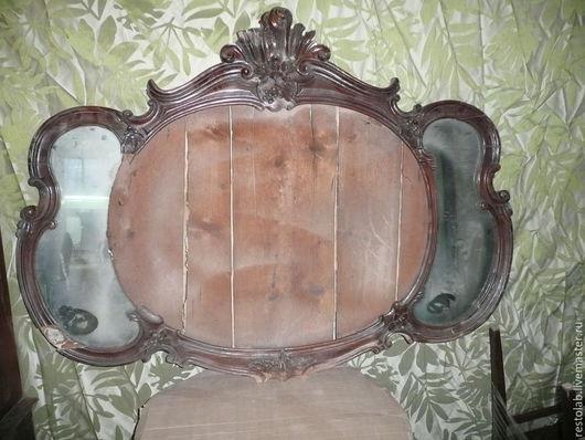 Реставрация. Ярмарка Мастеров - ручная работа. Купить Реставрация антикварного зеркала. Орех, рококо,начало 19 в.. Handmade. Коричневый, антиквариат