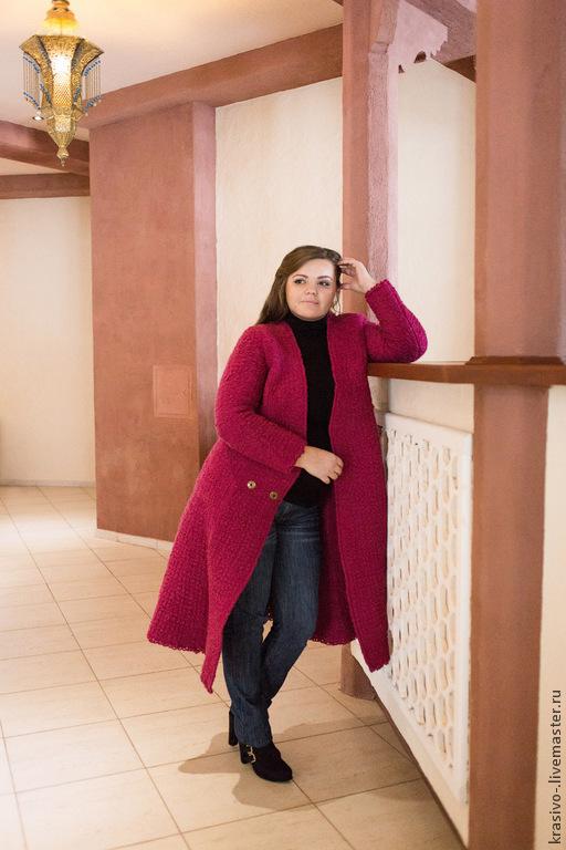 """Верхняя одежда ручной работы. Ярмарка Мастеров - ручная работа. Купить Пальто """"Рубин"""". Handmade. Ярко-красный, пальто валяное"""