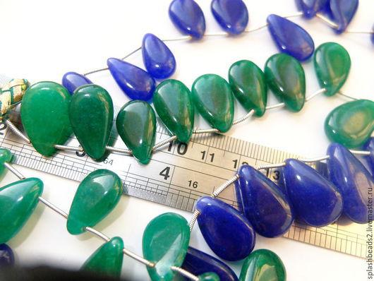 Для украшений ручной работы. Ярмарка Мастеров - ручная работа. Купить Изумруд (берилл)  плоская капля  2 размера. Handmade.
