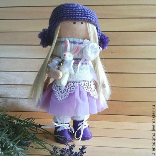 Коллекционные куклы ручной работы. Ярмарка Мастеров - ручная работа. Купить Кукла текстильная сиреневая  ручной работы. Интерьерная кукла.. Handmade.