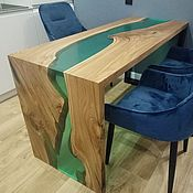 Для дома и интерьера handmade. Livemaster - original item Table river (waterfall) made of epoxy resin.. Handmade.