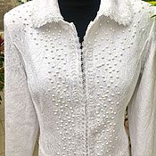 Одежда handmade. Livemaster - original item Designer coat, women`s coat, white coat.. Handmade.