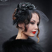 Свадебный салон handmade. Livemaster - original item Evening veil headband