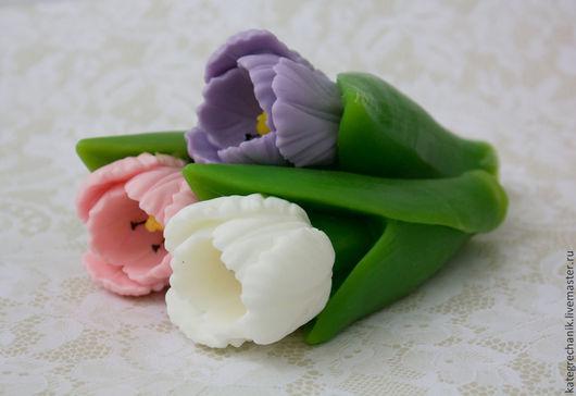 """Мыло ручной работы. Ярмарка Мастеров - ручная работа. Купить Мыло """"Тюльпан"""". Handmade. Разноцветный, сувенир на 8 марта"""