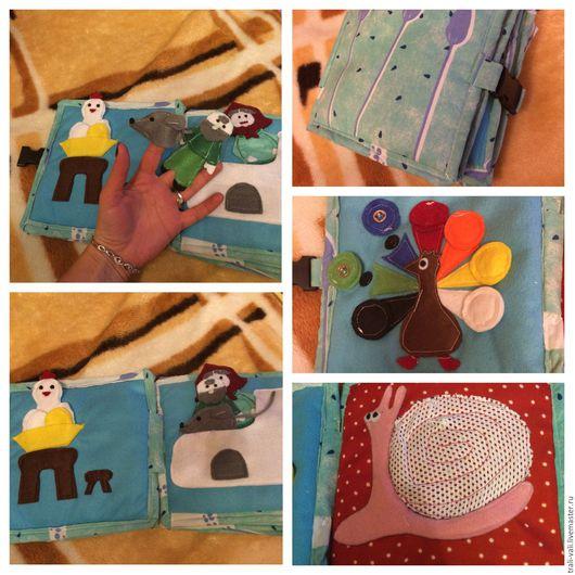 Развивающие игрушки ручной работы. Ярмарка Мастеров - ручная работа. Купить Развивающая книжка. Handmade. Развивающая игрушка, учим цвета