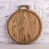 Для дома и интерьера handmade. Livemaster - original item Plate light oak with single handle. Handmade.