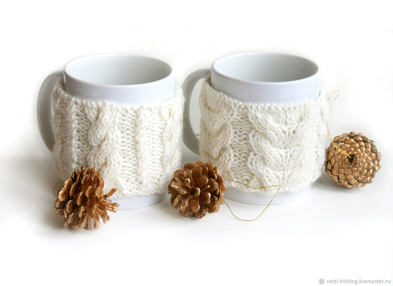Кружка в свитере Белое Рождество, Кружки и чашки, Москва,  Фото №1